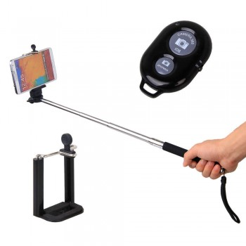 Monopod Selfie Stick Telescopic Mobile Phone holder & Bluetooth Wireless Remote