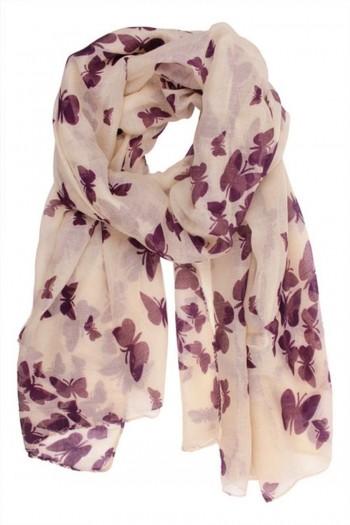 Butterfly Lady Women Fashion Shawl Neck Wrap Stylish Soft Scarf Headscarf Stole